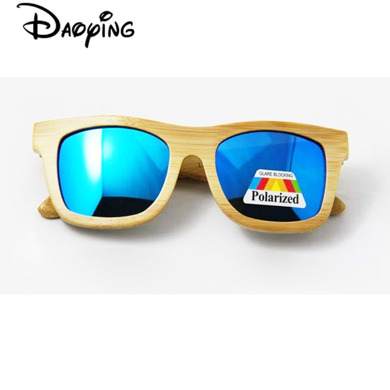 DAOYING New Fashion bamboo sunglasses men and women sunglasses wooden polarized lens vintage glasses no design