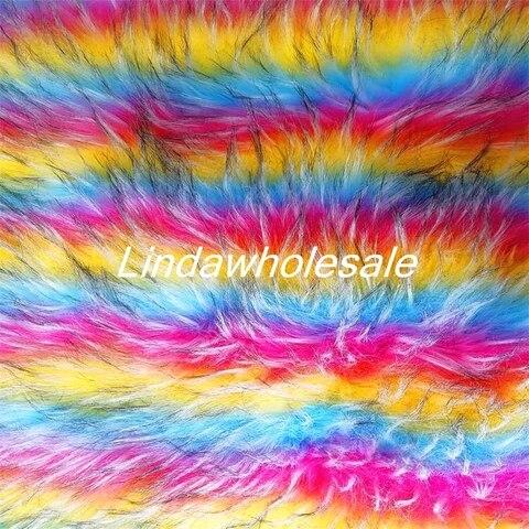 Pele de Guaxinim de Pelúcia Acessórios de Calçados o Tecido da Pele do Falso Alto Grau Rainbow Tecido Jacquard Sentiu Pano Roupas