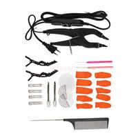 Pre Bonded Hair Extensions Fusion Keratin Heat Iron Connector Wand Apply Tools Set EU Plug