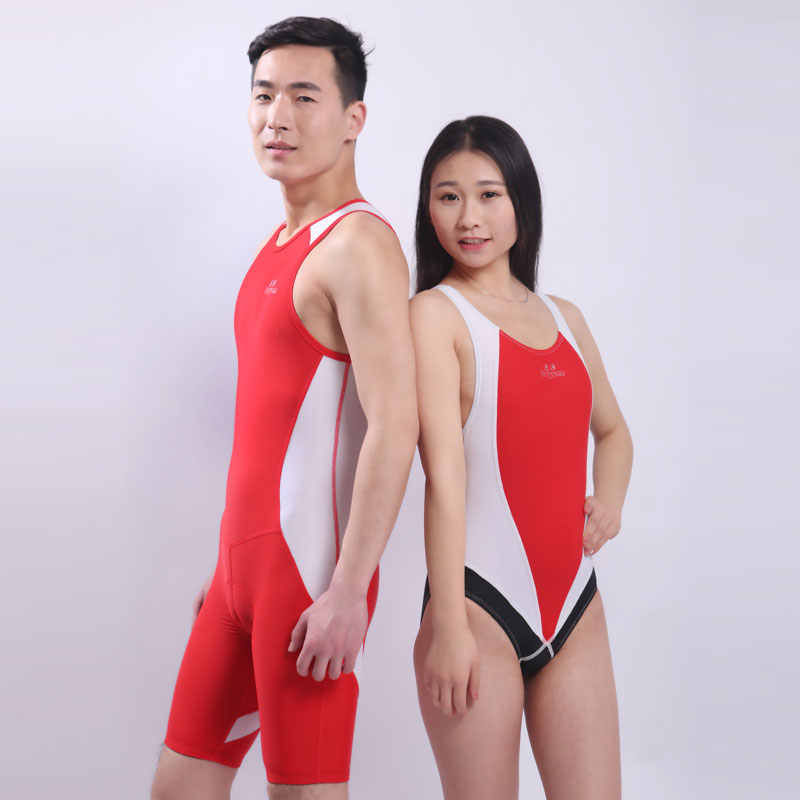 ed744ed331d537 ... unisex competition lycra knee length swim triathlon suit sharkskin one  piece professional racing training swimwear