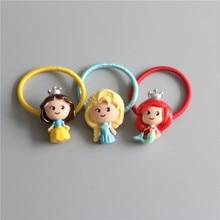 Милый кролик принцесса Корона Детские веревки для волос эластичная резинка для волос девочки аксессуары для волос Детские головные уборы детский головной убор