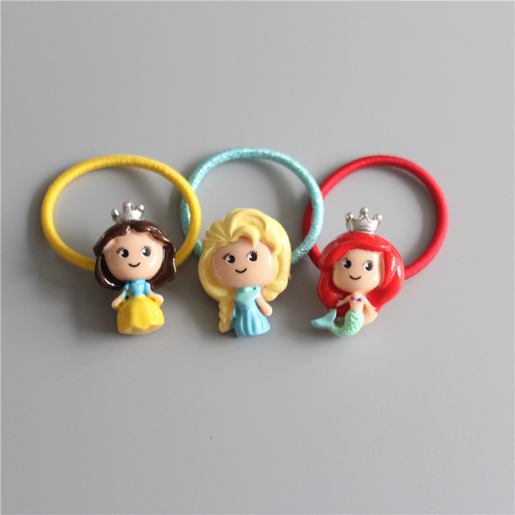 Cute Rabbit Princess Crown Children Hair Ropes Elastic Rubber Hair Band Girls Hair Accessories Baby Headwear Kids Headdress 12pc set elastic hair rubber band children hair unicorn headband kids hair accessories gril hair band set cute unicorn cartoon