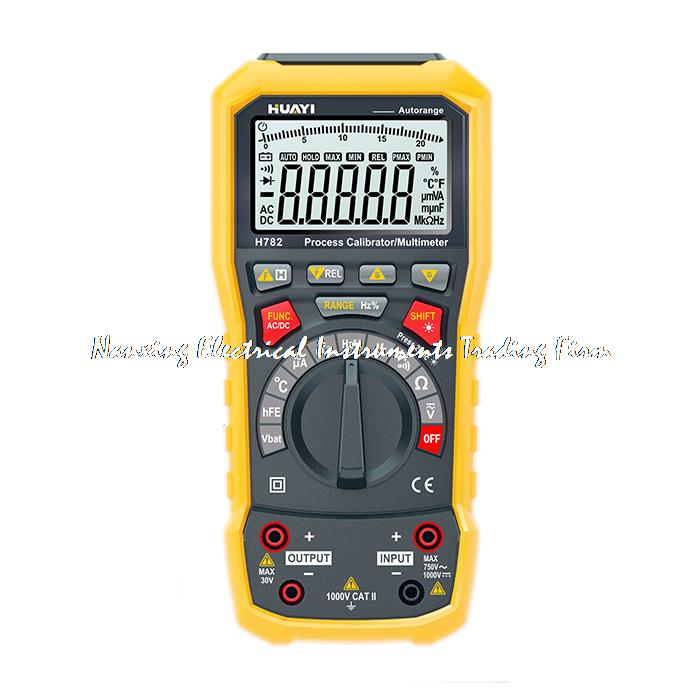 0-22mA 10V 10KHz H782 Dual Display Current Voltage Frequency Source Process Calibrator & True RMS Multimeter цена