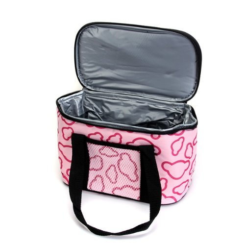 VSEN 10pcsInsulated and Water-Proof LIning Lunch Box Bag Cooler Tote Bag--Pink