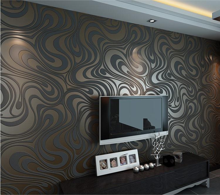 Papier peint rouleaux Papel de parede saupoudrer or peintures murales damassé mur 3D brique papier peint moderne brique pierre motif papier