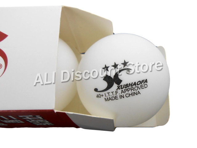 6x XUSHAOFA 3-Stars White Pingpong Balls 40+