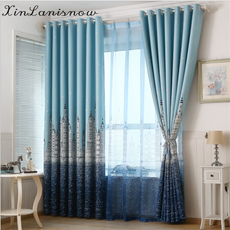 Printed and Thick Curtains for Living Dining Room Bedroom Cloth Children Boy Girl Curtai ...