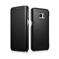 Icarer Side Open Hand Made Of Genuine CowhideLeather Genuine Leather Flip Case For Samsung Galaxy S7 Edge