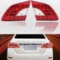 Marca New Car Styling Tronco Traseiro Lâmpada LED Interior luz Traseira do Farolim Traseiro Para Nissan Sentra 2014 2015 Montagem ABS Acessórios