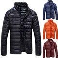 Ultraleve Homens Inverno Jaqueta Moda Casual Outerwear Casaco Para Baixo