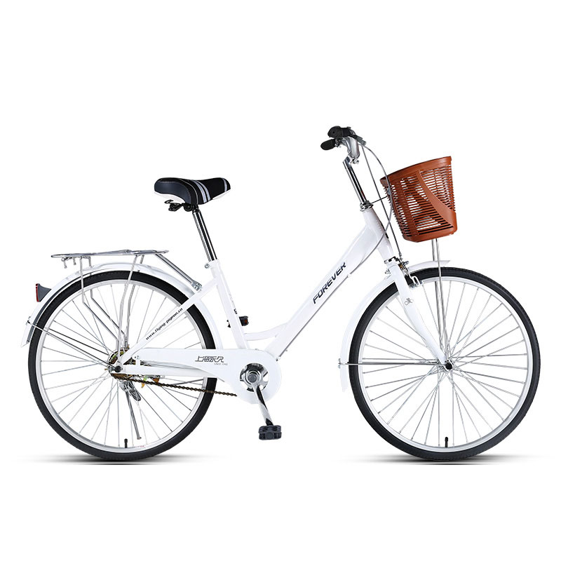 Students Bike Lady Commuting Ordinary Light Variable Speed 24 Inches Fashion Commuter Bicycle,High Carbon Steel Frame image