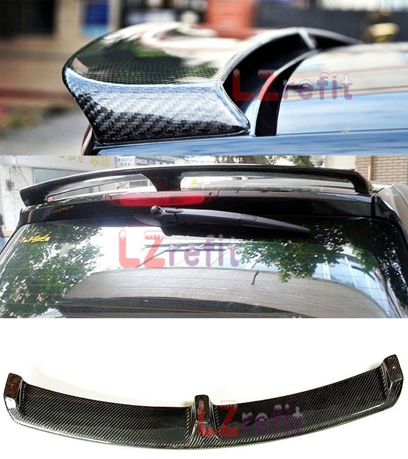 Réel de Fiber De Carbone B Style Arrière Aileron Wing Fit Pour Smart Fortwo 2008-2013