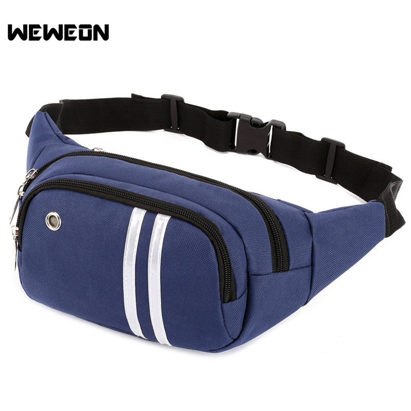 Multifunctional Waterproof Chest Bags Running Waist Bag Sport Packs for Men and Women with Headset Hole-Fits Sports Handbags