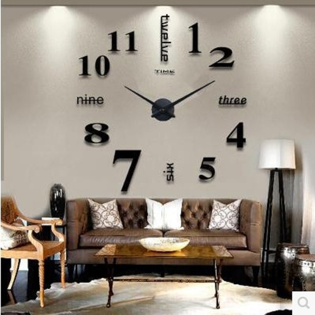 Hervorragend Mute Modern Wall Clock Design Wanduhr Wandklok Relojes Pared Self Adhesive  Home Decor Pared Relogio Parede