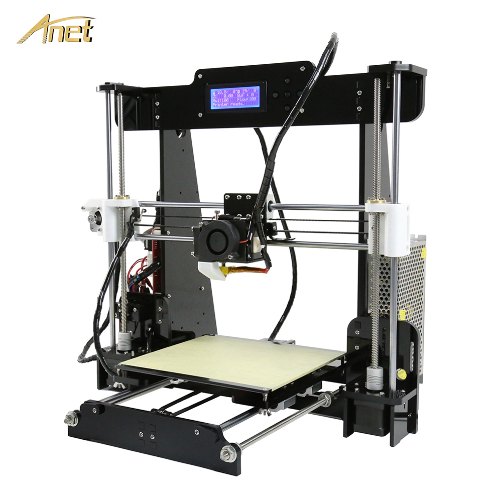 Anet A8 3D Printer Full Acrylic Frame High Precision Control main board Reprap Prusa i3 3d Printer Kit DIY with 10M PLA Filament [sintron] 3d printer full frame mechanical kit for reprap prusa i3 diy acrylic frame plastic parts lm8uu bearings