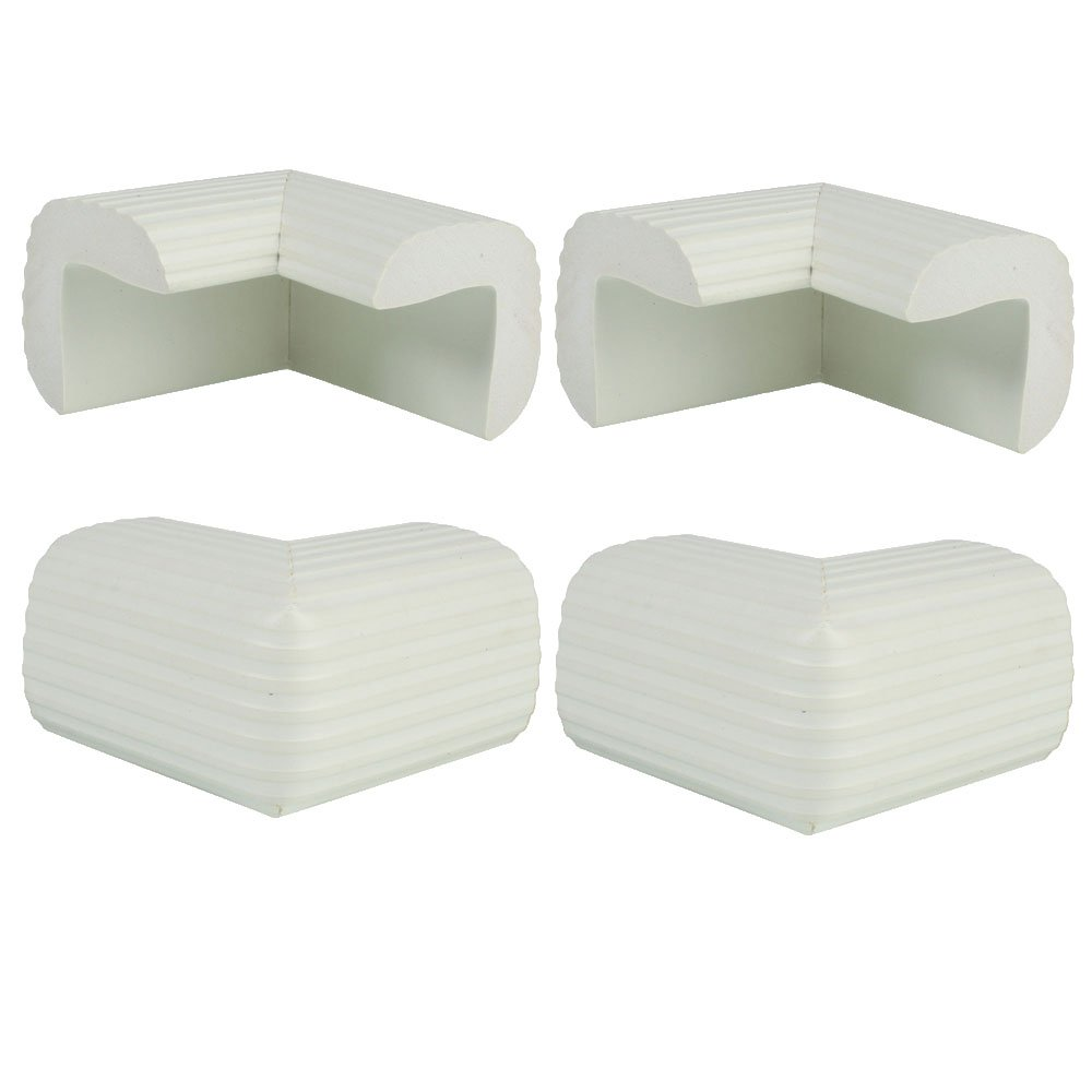 4 Pack Baby Child Infant Kids Safety Safe Table Desk Corner Bumps Cushion Guards Protector White
