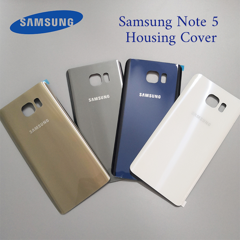 US $3 99 20% OFF 100%Original Samsung Galaxy Note5 Note 5 Back Battery  Cover 3D Glass Housing Cover for Samsung Note 5 Door Rear Case  Replacement-in
