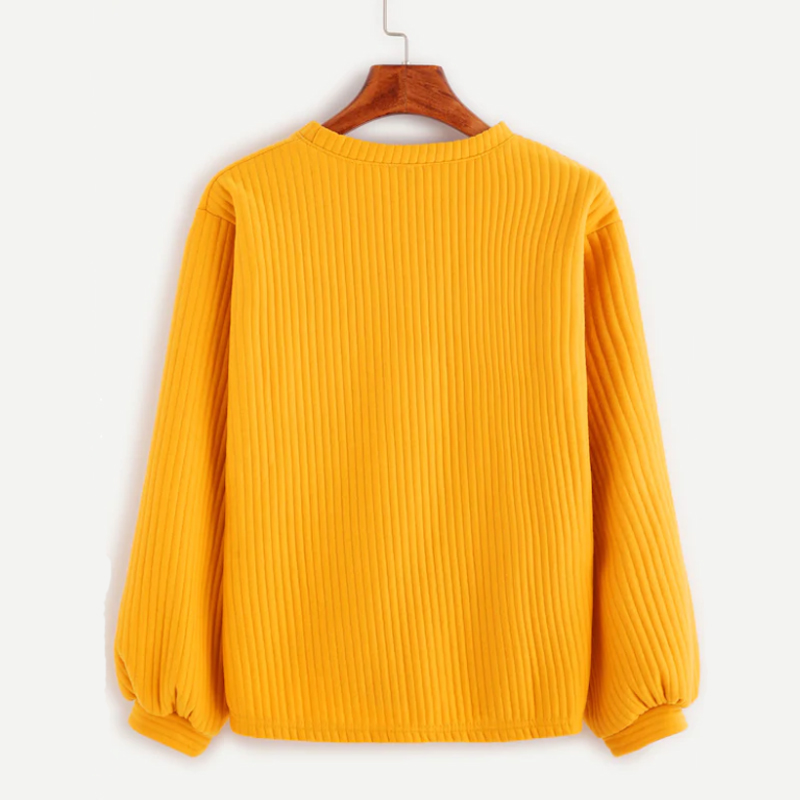 0ba070818a 2019 Women Sweaters Autumn Winter Cotton Casual Loose Yellow Knit ...