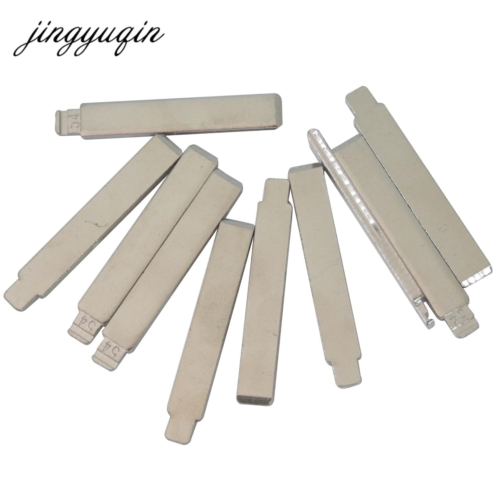 Jingyuqin 15 Stks/partij No.54 Hca/HU83 Gewijzigd Sleutel Blade Fit Voor Citroen Peugeot Flip Folding Autosleutel Leeg 54 # Met Groef