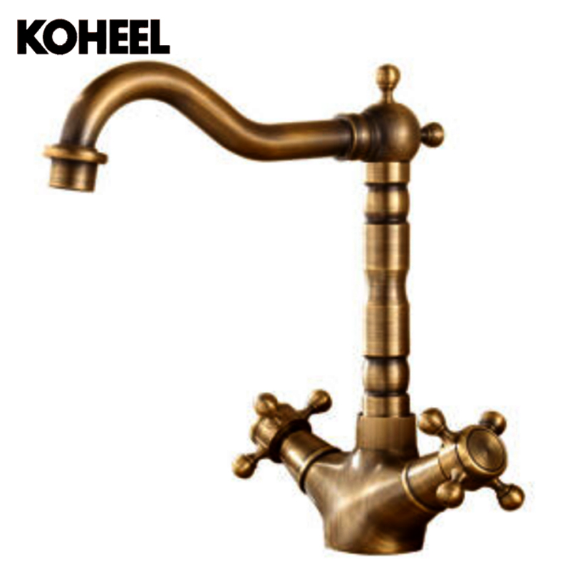 2018 High Quality Antique Brass Material Bronze Hot And Cold Single Lever Kitchen Faucet Sink Faucet Basin Faucet Tap Mixer K9 high quality single handle brass hot and cold basin sink kitchen faucet mixer tap with two hose kitchen taps torneira cozinha