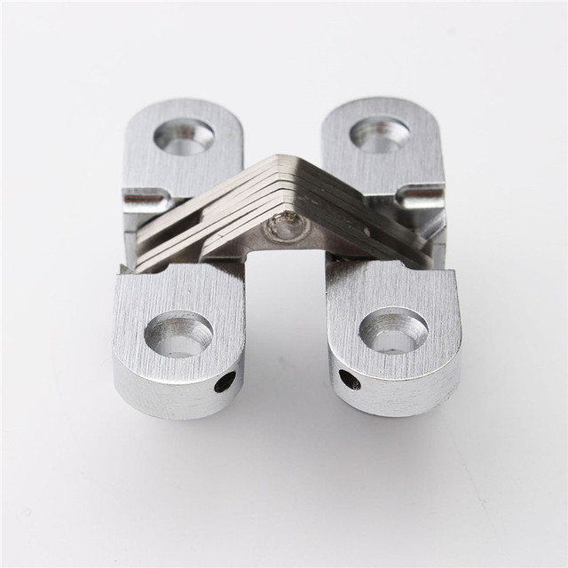 MTGATHER 304 Stainless Steel Hidden Hinges Invisible Concealed Cross Door Hinge Bearing 20KG With Screw 13x45MM