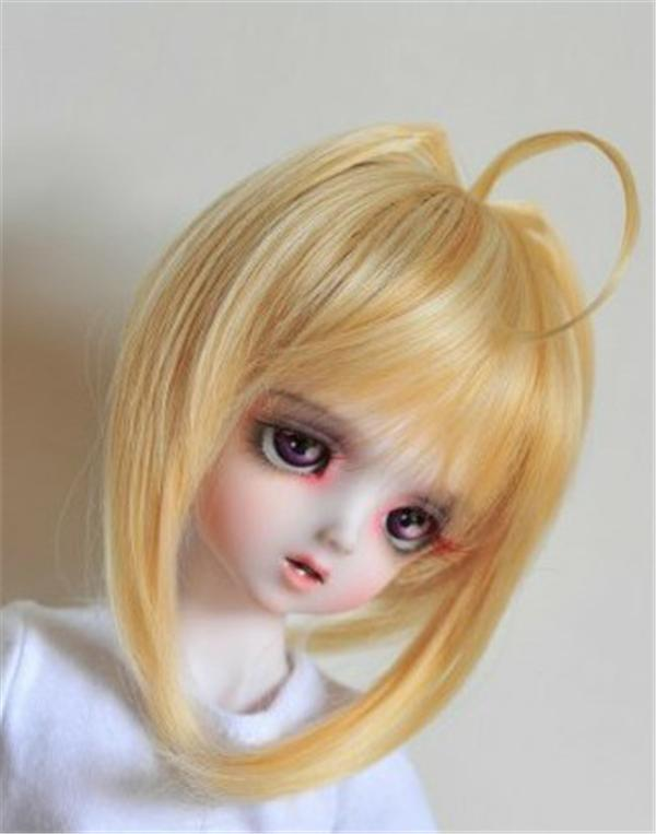 JD163  1/12 BJD wigs Heat resistance doll wigs size 4-5 inch Lovely  short wig  Doll accessories 1 3 1 4 1 6 1 8 1 12 bjd wigs fashion light gray fur wig bjd sd short wig for diy dollfie