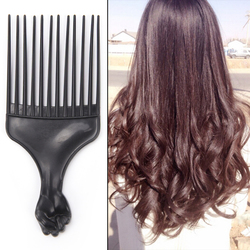 1PCS Wide Teeth Afro Brush Pick Comb Fork Hairbrush Insert Hair Pick Comb Plastic Gear Comb For Curly Hair Styling Tools
