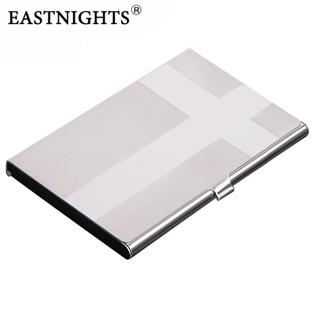 Eastnights 10pcslot metal name card case stainless steel business eastnights 10pcslot metal name card case stainless steel business card holder cross pattern promotion colourmoves
