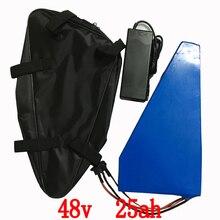 48 V 2000 w треугольная батарея 48 v 25ah литий-ионная аккумуляторная батарея 48 v 25ah электрическая велосипедная батарея с 50A BMS + 54,6 V зарядное устройство + сумка
