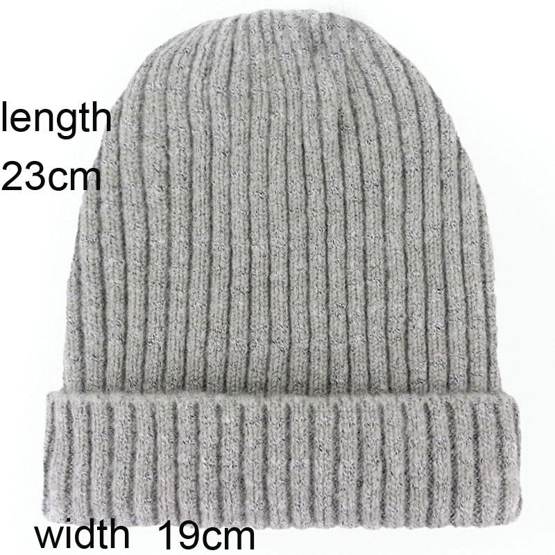 3b27aeb76d872 ... Striped Knit Beanie Hats for Women Men Winter Warm Ski Cap Grey Navy  Khaki Black Fuchsia Dark Yellow Red. Approx. 23*19CM,please allow 1-3cm  error. 0 ...
