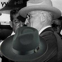 Retro Fashion Vintage Floppy Wide Brim Felt Hat For Men Women Black Wool Fedoras