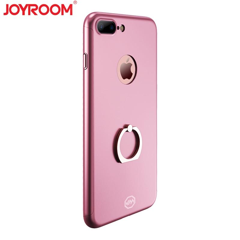 imágenes para JOYROOM 360 Grados Cubierta Para el iphone 7 Más Caso Del Sostenedor Del Anillo Teléfono móvil Contraportada Casos de Protección de Cuerpo Completo Para iPhone7 Plus 5.5
