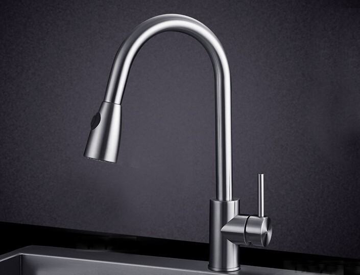 Free shipping SUS 304 Stainless Steel Speaker Typle Kitchen Pull out Faucet Water Sink Mixer 315 free shipping food grade 304 stainless steel hot sell kitchen sink double trough 0 8 mm thick ordinary 78x43 cm