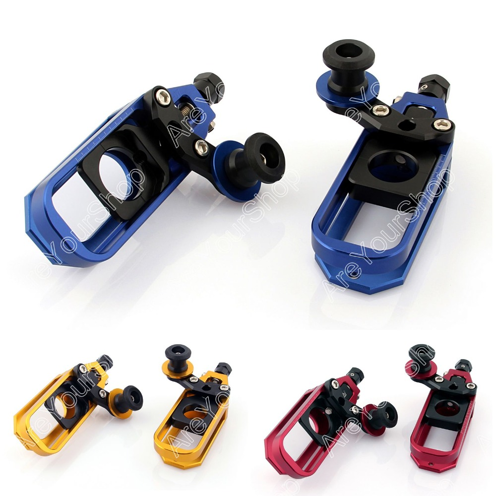 Areyourshop Sale Blue Gold Red For Yamaha YZF R6 Motorcycle Moto Scooter CNC Aluminum Chain Adjusters Gear Sprocket Accessory
