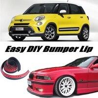 Bumper Lip Deflector Lips For Fiat 500L Trekking / Living / MPW Front Spoiler Skirt For Tuning / Body Kit / Strip