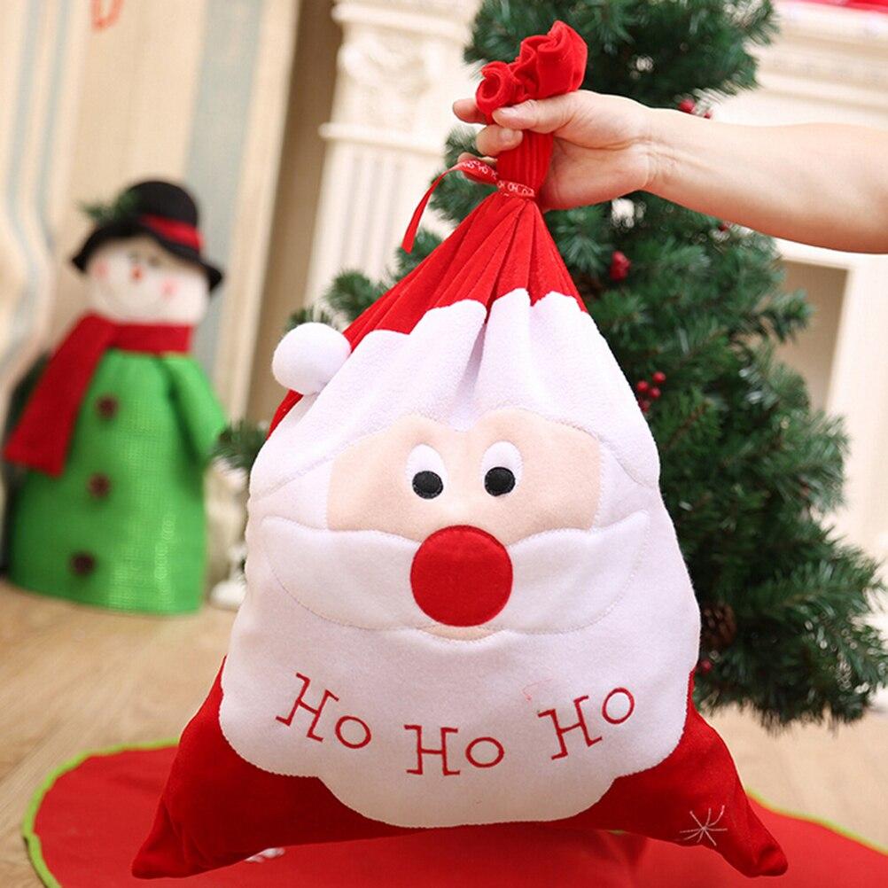 Hot Sale Christmas Gift Bag Santa Claus Christmas Gold Velvet ...