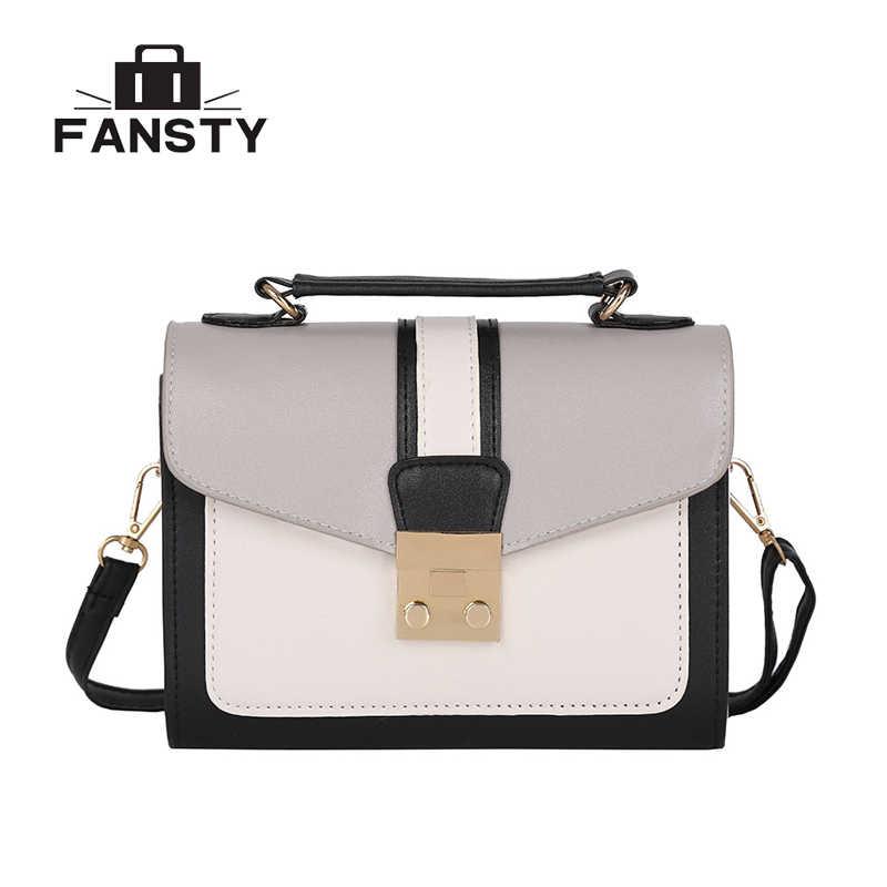 34225ad3c2a4 2018 модные из искусственной кожи маленькие сумки на плечо дешевые  лоскутные сумки через плечо сумки-