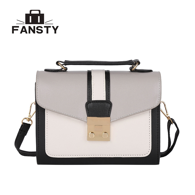 2018 Fashion Pu Leather Small Shoulder Bags Cheap Patchwork Cross Body Bags Messenger Bags Women Leather Handbags Brand Design xiaoxiao ladies women shoulder bags tote handbags young style small women messenger bags fashion cross body bags for girls m0313