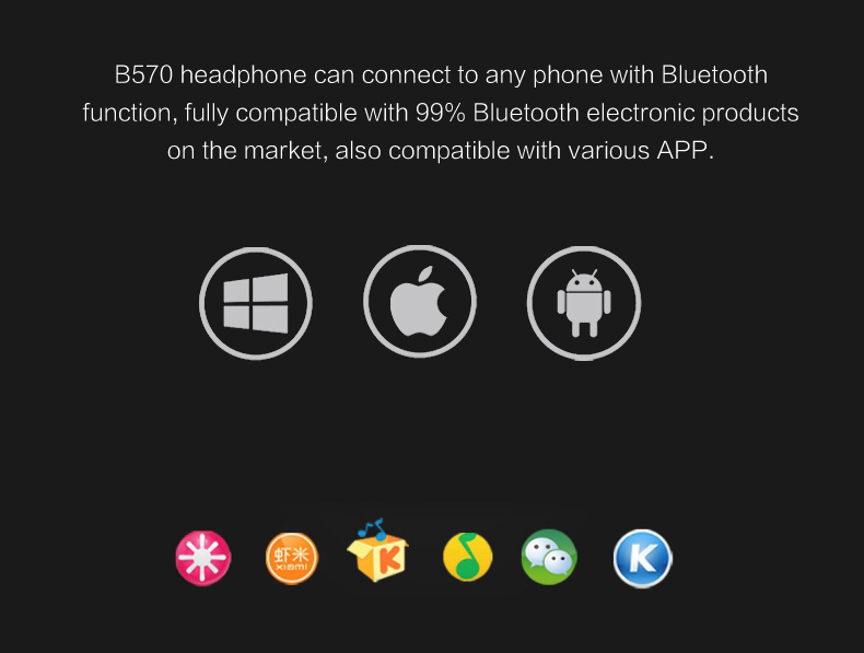 Zealot B570 Earphone Headphone with LCD Screen Bluetooth Headphone Foldable Hifi Stereo Wireless Headset FM Radio TF SD Slot 17