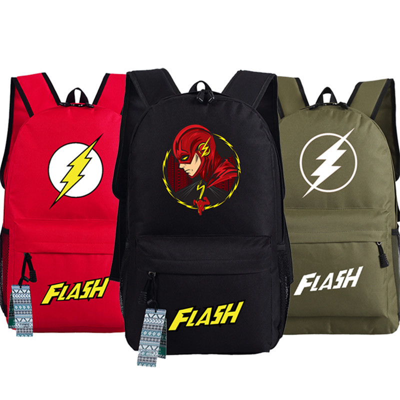 Flash Logo Teenager Man Printing Backpack Bag Anime Book Students Shoulder Bag Cosplay Gift 45x32x13cm