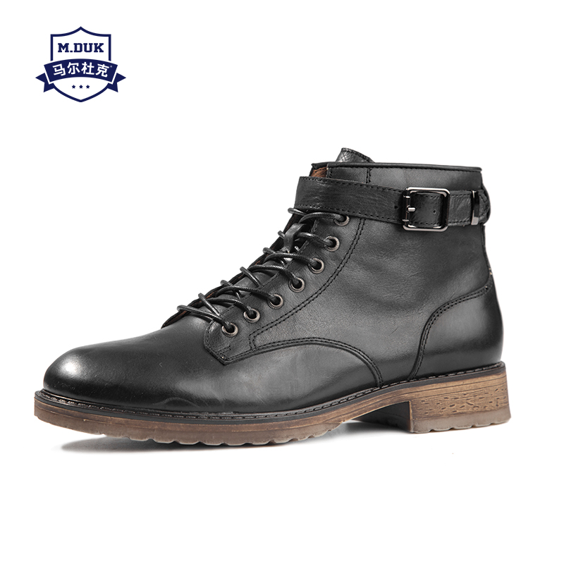 cowhide Winter Martin Boots men Real Leather mens boots cowhide mens boots chelsea fashion shoes autumn steel toe shoes male