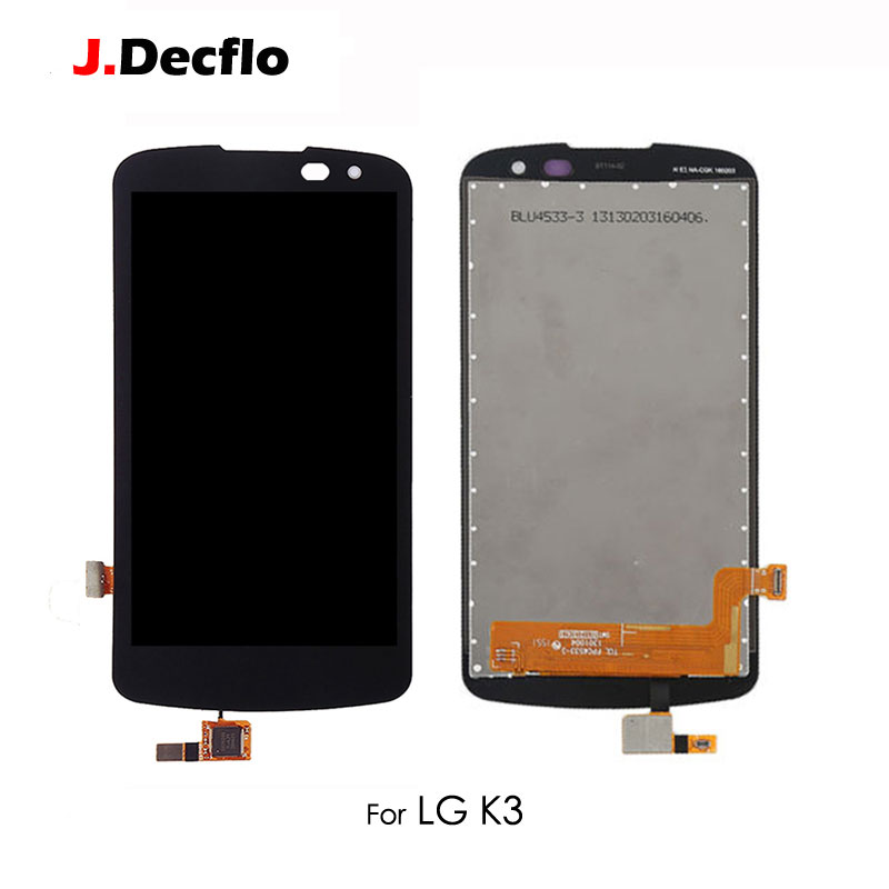 Replacement For <font><b>LG</b></font> K3 2016 K120 <font><b>K100</b></font> LS450 LCD Display Touch Screen Digitizer Full Assembly without Frame Original Black 4.5