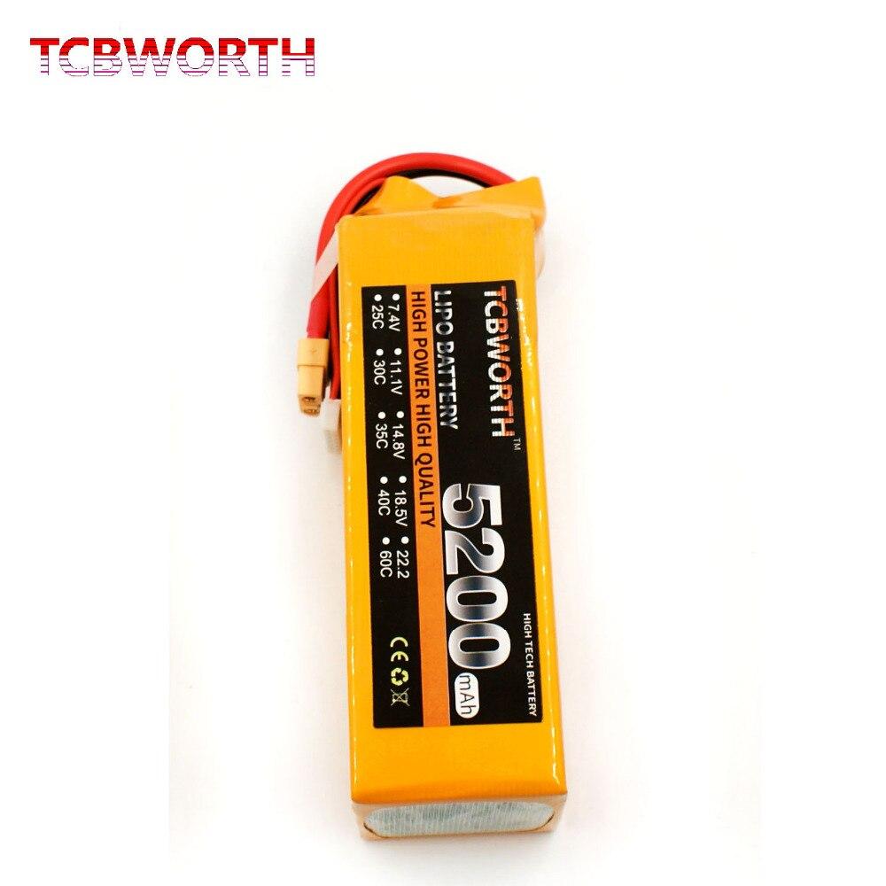TCBWORTH 6S 22.2V 5200mAh 30C RC Drone LiPo battery For RC Airplane Quadrotor Car Boat AKKU Li-ion battery mos rc airplane lipo battery 3s 11 1v 5200mah 40c for quadrotor rc boat rc car
