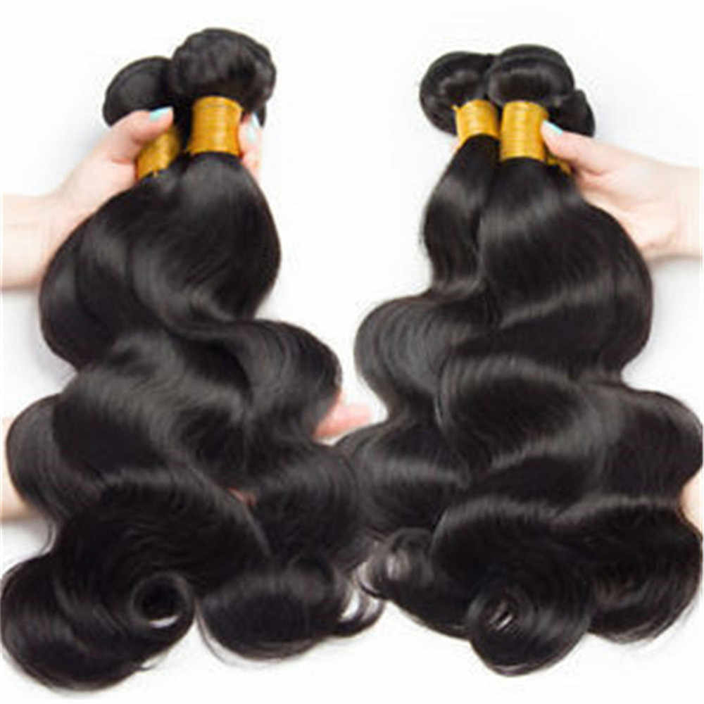 אדם בתולה שיער 3 חבילות עם 4x4 חלק חינם תחרת סגר ברזילאי גל גוף תוספות שיער upretty luduna לציפורן מיושר
