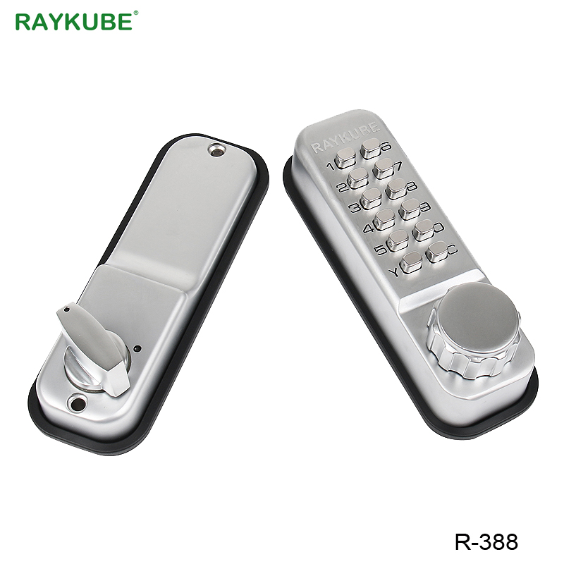 RAYKUBE Password Lock With Deadbolt Keyless Digital Mechanical Lock For Office Home Door Lock Waterproof R-388 image