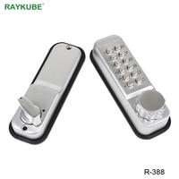 RAYKUBE Password Lock With Deadbolt Keyless Digital Mechanical Lock For Office Home Door Lock Waterproof R