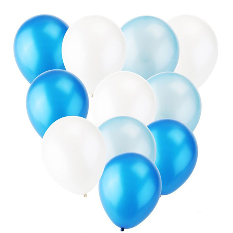 12pcs 12inch Blue/White Latex Balloon Set DIY Wedding Decoration Bachelorette Party Birthday Baby Shower Globos Toys