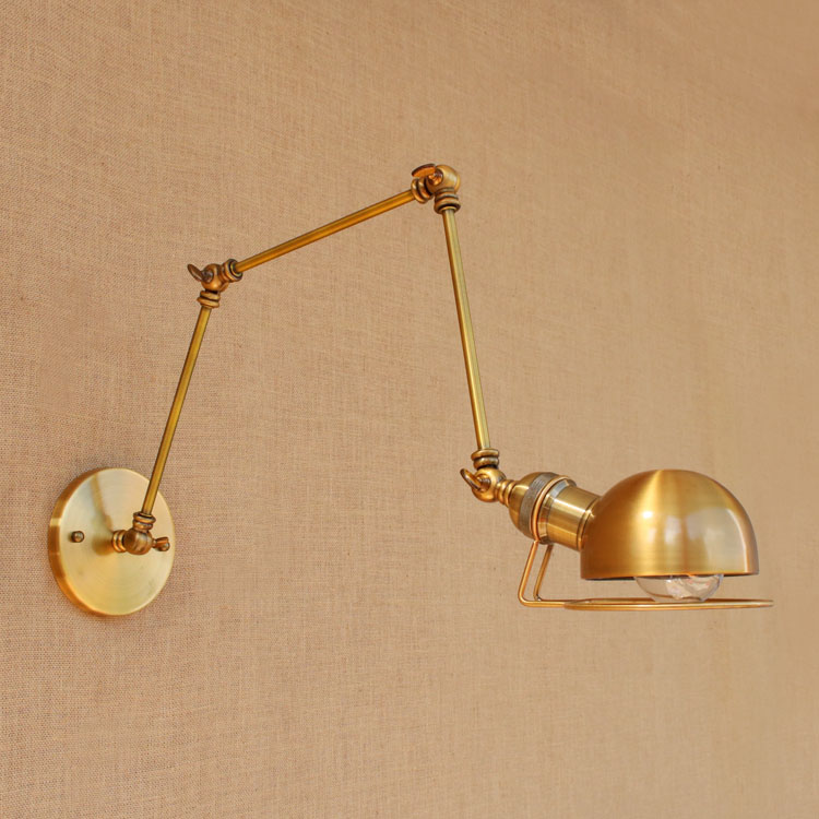 Loft Style Industrial Wall Light Fixtures LED Adjustable Swing Long Arm Vintage Wall Lamp Edison Sconce Lampara Appliques Pared round neck cotton linen splash ink print short sleeve men s t shirt
