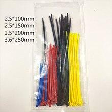 CCZDSL 2.5*100mm 2.5*150mm 2.5*200mm 3.6*250mm Self-locking Nylon Zip Tie Plastic Cable Wire Set 4 Color