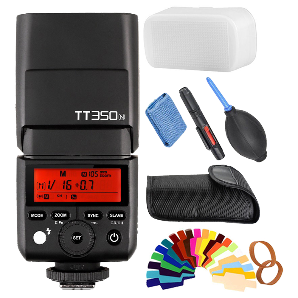 Godox TT350N Speedlite Flash TTL HSS 1/8000s for Nikon D750 D7000 D7200 D5100 D5200 D5000 D300 D300S D7100 D3200 D3100 D200 D80 kf590ex n i ttl high speed light flash professional speedlite for nikon d7100 d7000 d5200 d5100 d5000 d3000 d3100 d300 dslr page 6